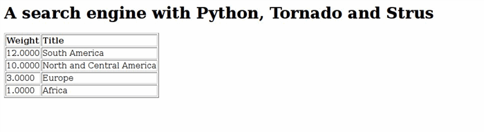 Building a search engine with Python, Tornado and Strus