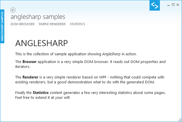 AngleSharp Samples Introduction