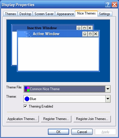 Dialog with switchbar controls