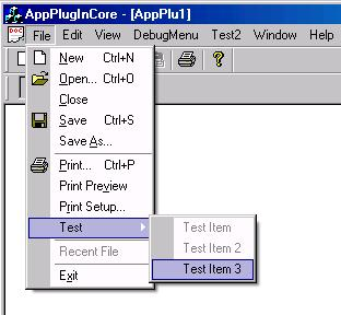 Example application running with this plug-in