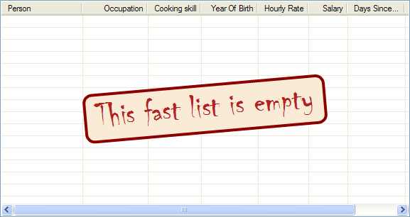 Fancy empty list message