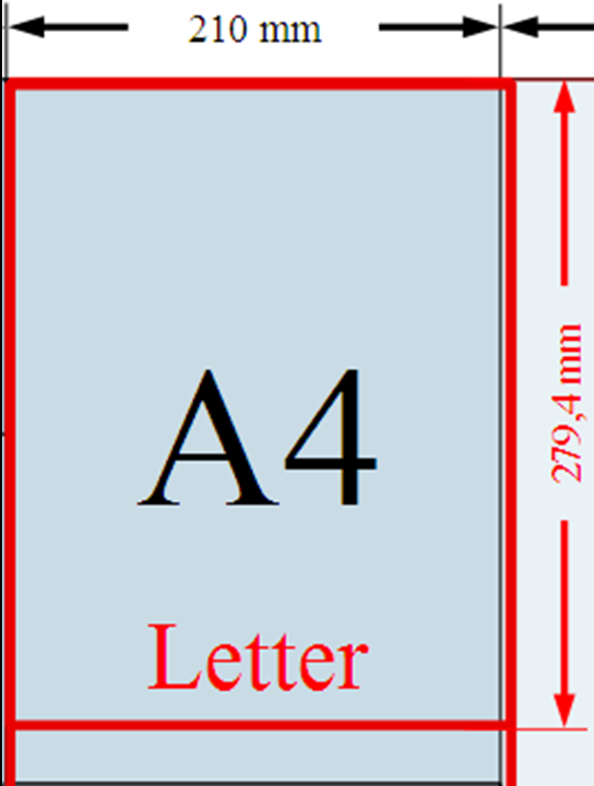 Letter Size Paper Vs A4 Images Download Guide Letter