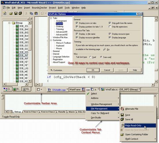 Window Tabs (WndTabs) Add-In for DevStudio - CodeProject