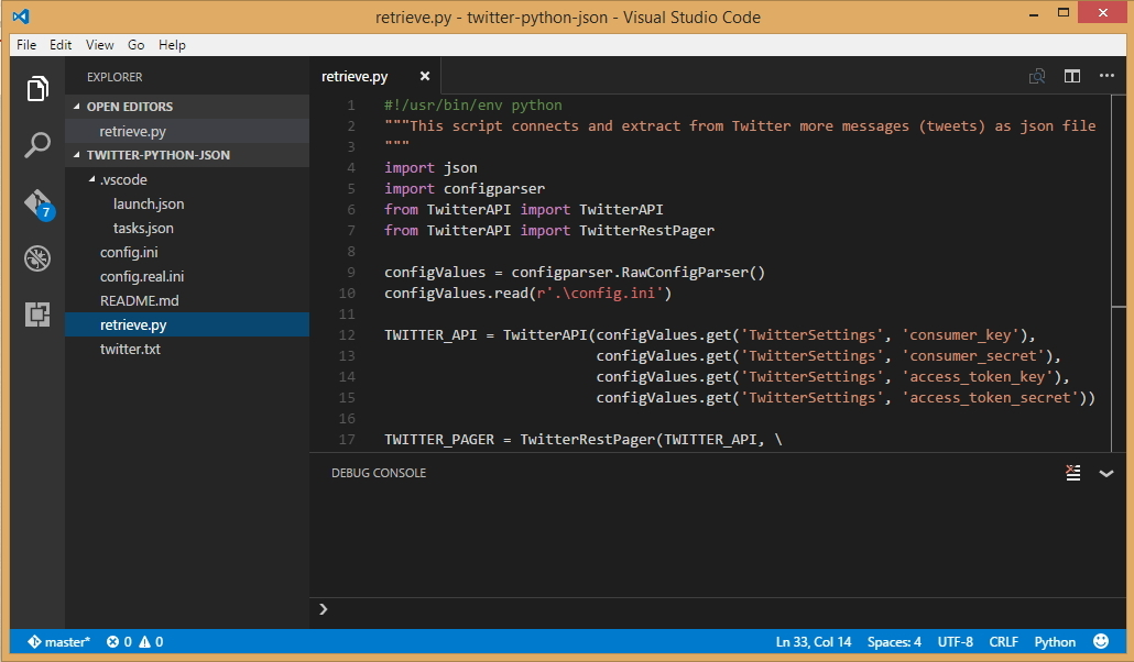 Visual Studio Code – Connect to Twitter with Python - CodeProject