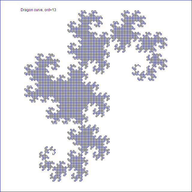 Dragon curve, order 13