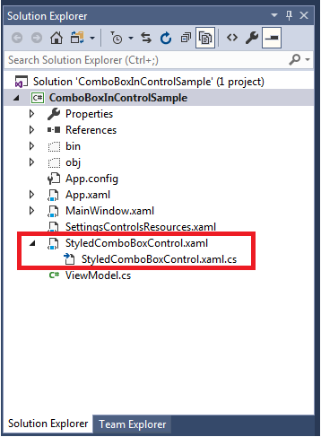 Creating Custom WPF Derived Control with Attached XAML File