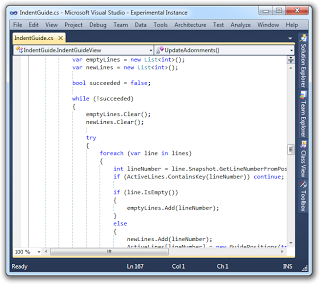 Show Indentation Lines in Visual Studio 2010 - CodeProject