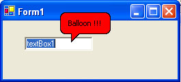 Red Balloon toolTip