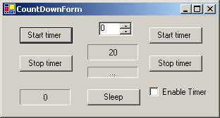 A CountDownTimer inherited from System Windows Forms Timer - CodeProject