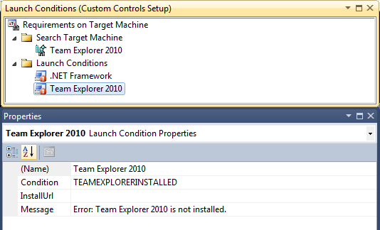 How the launch condition is to be configured