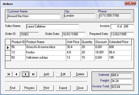 create and print invoices as data report codeproject