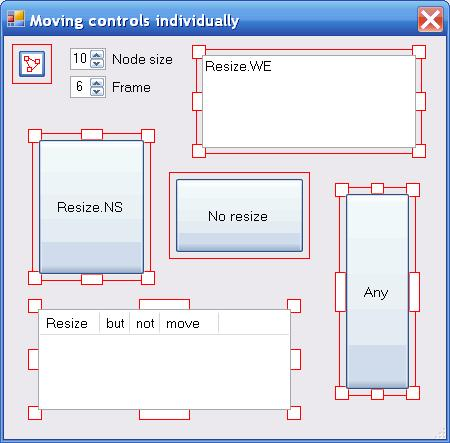 Fig.10 Individually moved controls and their covers