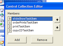Use arrow buttons to reorder Controls at design time
