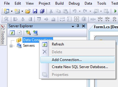 Connecting to sql server database using c#.