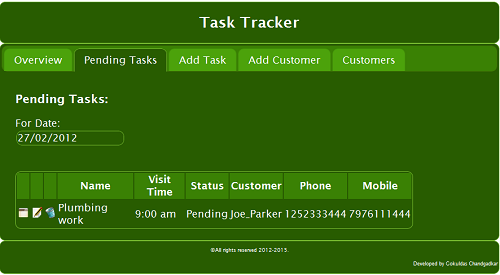 TaskTracker Offline Web Application for Mobile using HTML5/jQuery ...