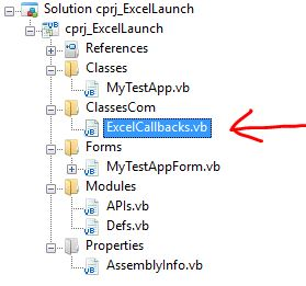 Launching a VB NET Class Library from an MS-Office Excel
