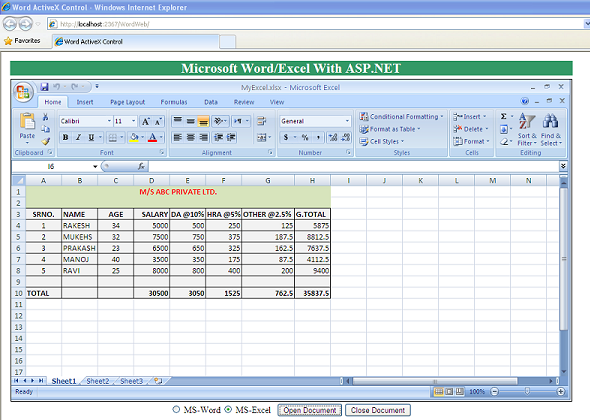 Word/Excel ActiveX Controls in ASP NET - CodeProject