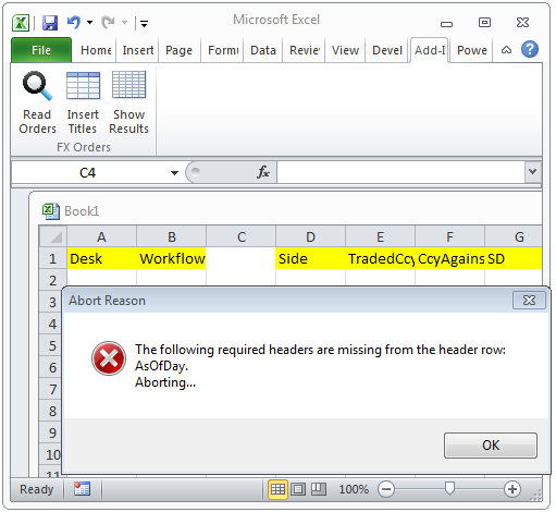 Excel Add-in Framework for Validating and Exporting Data