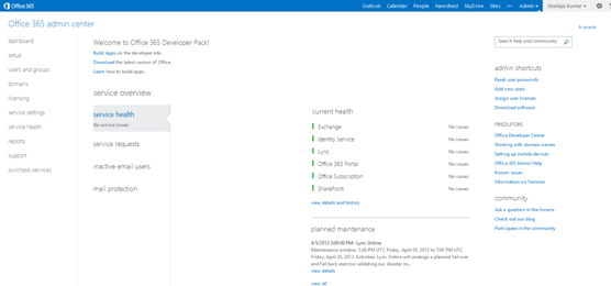 ... Office 365, SharePoint, Lync And Exchange, Etc. The Global Administrator  Users Of The Microsoft Online Services Portal Will Have Permissions To  Manage ...