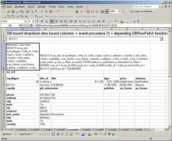 database user manual template - excel addin for database querying by user defined