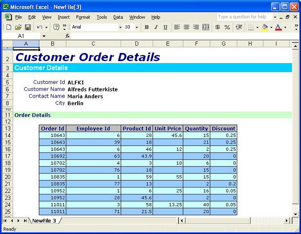 Excel Export Component Using XSL CodeProject - Sample excel spreadsheet