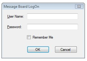 Log on form