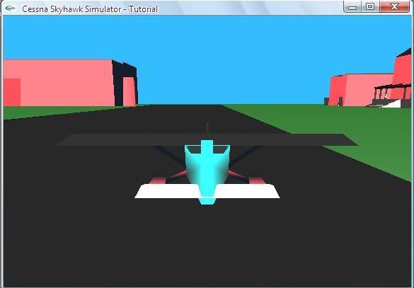 A Cessna Skyhawk Skeleton for Further Development in OpenGL (GLUT