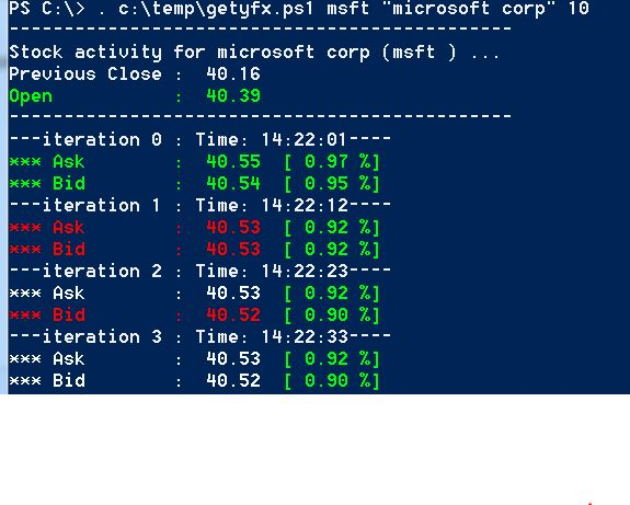 Get Real Time Quotes Using PowerShell CodeProject Awesome Msft Stock Quote