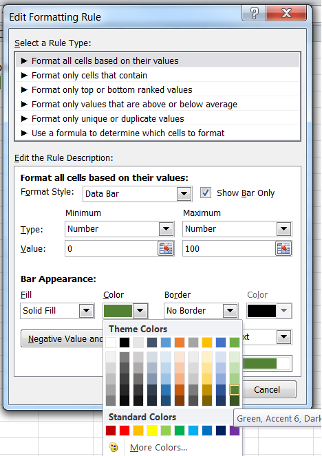 Progress Bar in Cell – Excel - CodeProject