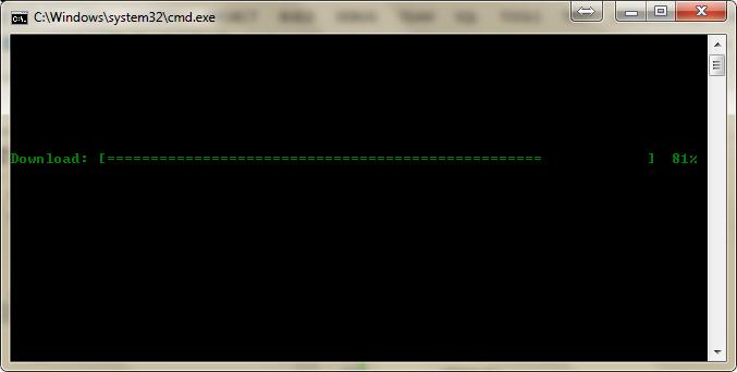 Console Simple Progress