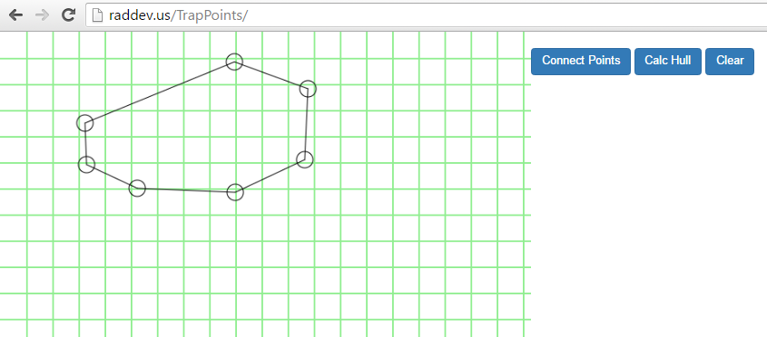 Algorithm : Calc Convex Hull & Draw HTML5 Canvas (Part 1 of
