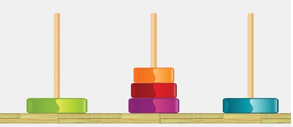 tower of hanoi solutions The towers of hanoi: solutions  64 disk tower on the third post the monks must move the disks according to two rules: 1the monks can only move one disk at a time.