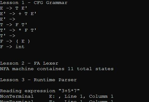 How to Make an LL(1) Parser: Lesson 1