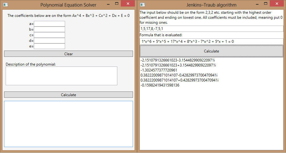 Polynomial Equation Solver Codeproject