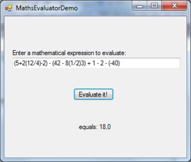 Basic mathematical expression evaluator - CodeProject