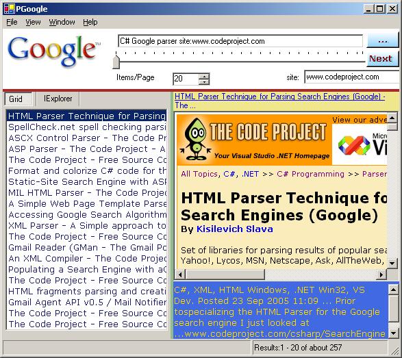 Google Parser - CodeProject