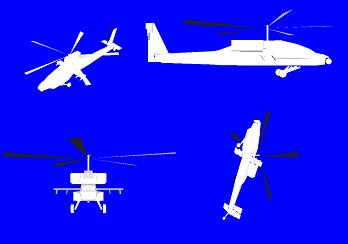 Different views of helicopter