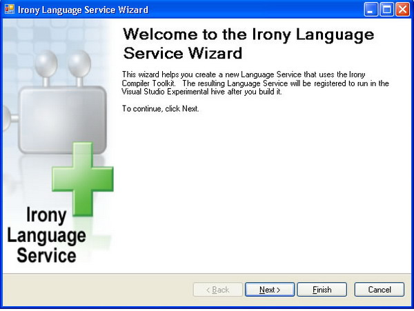 Irony Language Service Wizard