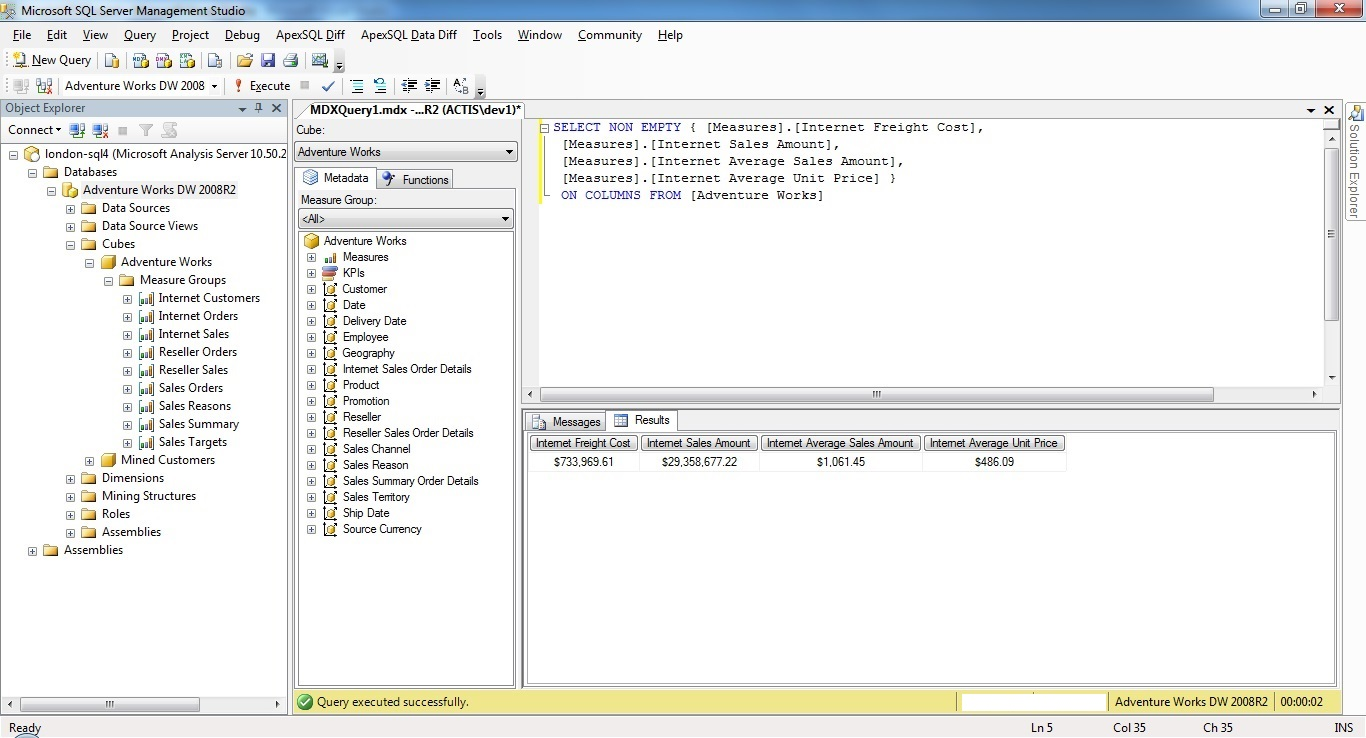 Instant MDX Queries for SQL Server 2012 - O'Reilly Media