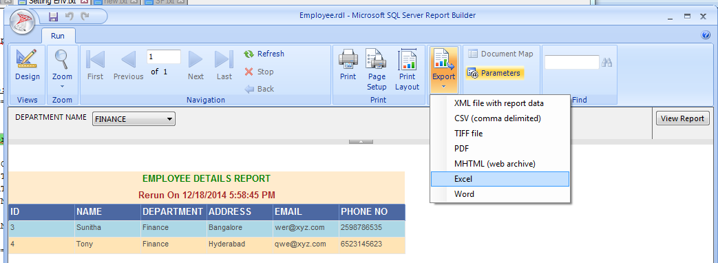 Creating Report using Report Builder and Oracle DB - Part 1