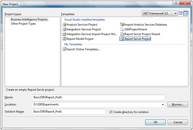 SSRS Series Part I: Various ways of Report creation