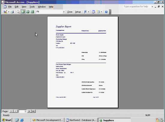 preview of access report in access environment