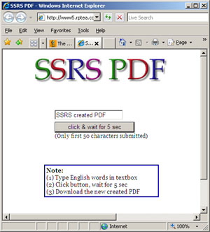 Create data driven PDF on the fly by using SQL server