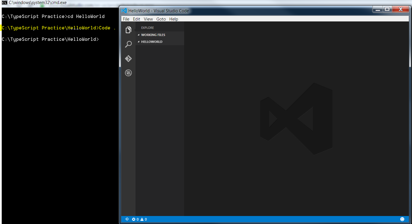 Hello World from TypeScript in VS Code - CodeProject