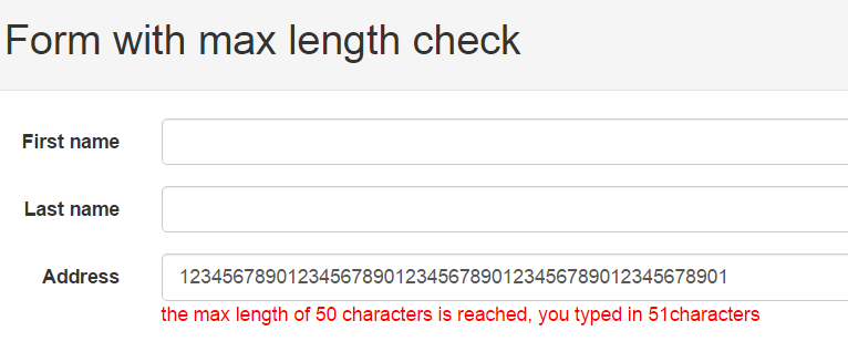 Validating length of a field in javascript