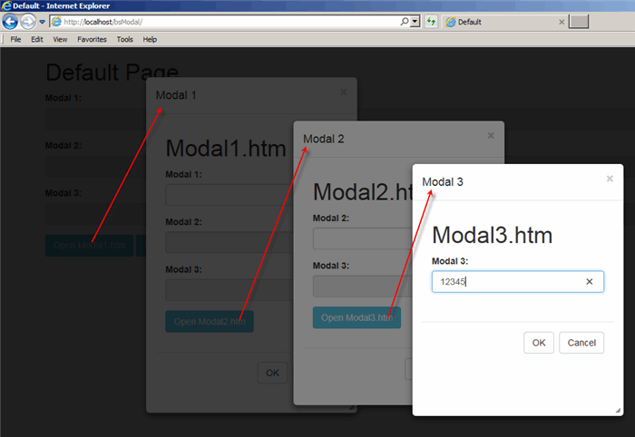 Resizable and Nested Modal Dialogs using jQuery UI and
