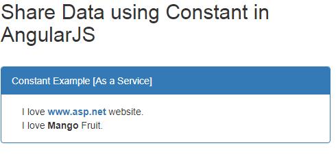 Angular Js Constant