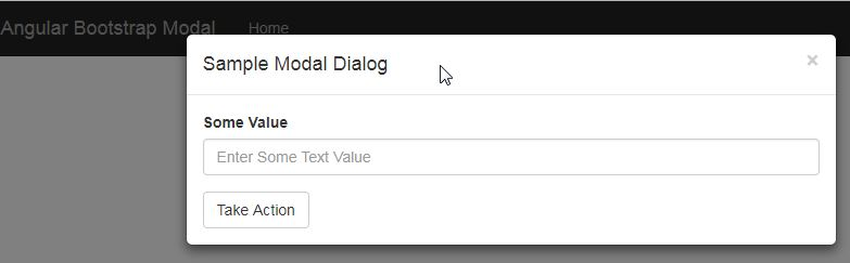 Bootstrap Modal Dialog Interaction with AngularJS 1 6 x