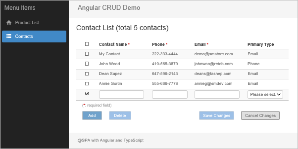 Angular Data CRUD with Advanced Practices of Reactive Forms