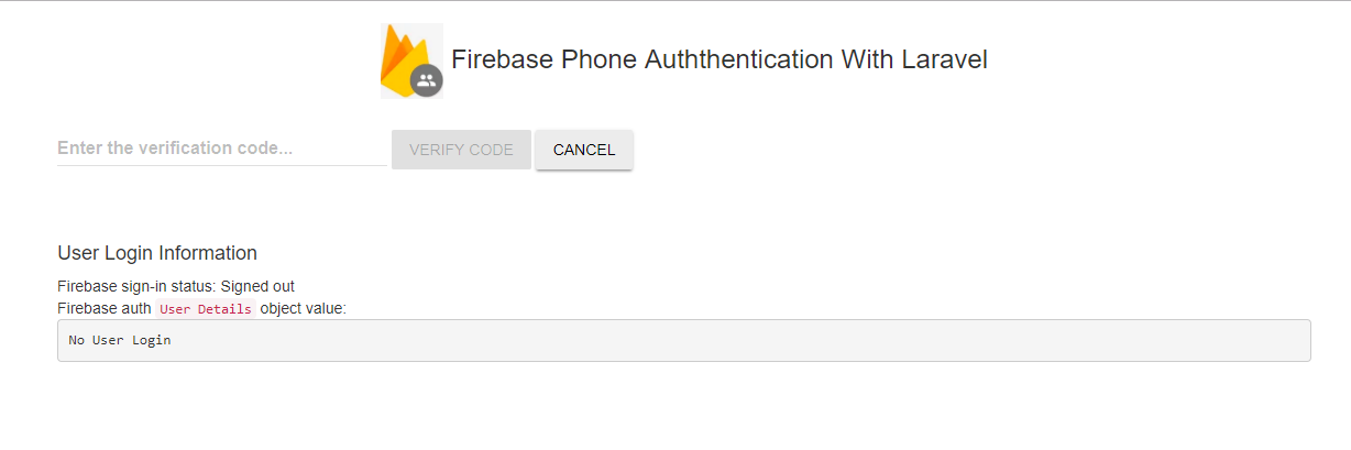 Integrate Firebase Phone Authentication With Laravel